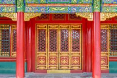 Free Gateway With Red Chinese Doors Stock Photography - 84655352