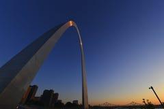 Gatewayboog in St.Louis, Missouri stock foto's