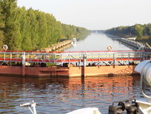 Gateways of the Volga River and its riversides Stock Images