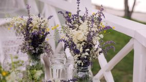 Gather a bouquet of wildflowers stock footage