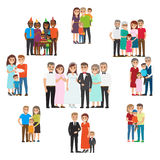 Gathered Family for Holidays and Special Events Stock Image