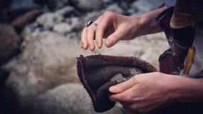 Gatherer βράχου Στοκ Φωτογραφίες