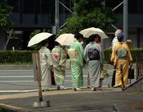 Gathering. Japanese women dressed traditionally royalty free stock photography