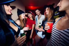 Gathering in bar Royalty Free Stock Images
