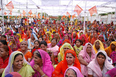 A gathering of brahmin women Stock Photos