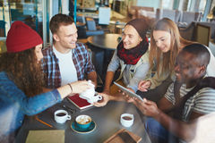 Gathering in cafe Stock Photography