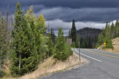 Gathering Clouds. Along Trail Ridge Road on the West Side of Rocky Mountain National Park royalty free stock images