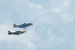 2014 Gathering of Eagles Air Show Vintage Propeller Airplane Royalty Free Stock Photos