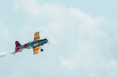 2014 Gathering of Eagles Air Show Vintage Propeller Airplane Stock Photo