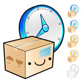 Gathering of goods scheduling Illustration. Product and Distribu Royalty Free Stock Photo