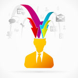 Gathering Information. Abstract avatar vector illustration about gathering information Royalty Free Stock Image
