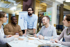 Gathering in office Stock Image