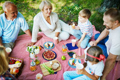 Gathering outdoors Stock Photography