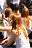 Gathering of redheads in Montreal Stock Photography