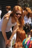 Gathering of redheads in Montreal Royalty Free Stock Image