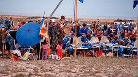 Gathering of shamans on Olkhon Island Royalty Free Stock Image