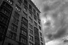 Gathering Storm. Storm clouds against Chicago architecture Royalty Free Stock Photo