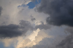 Gathering Storm Clouds And Sunset Light Royalty Free Stock Photography