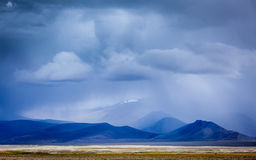Gathering storm in Himalayas mountains Stock Photos
