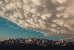 Gathering storm. View of the main Caucasian ridge Stock Images