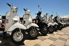 Gathering vespa piaggio Royalty Free Stock Photos