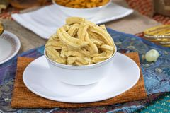Gathiya Namkeen. Fried and salty food Gathiya Namkeen stock image