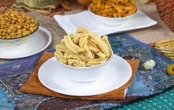 Gathiya Namkeen. Fried and salty food Gathiya Namkeen stock images