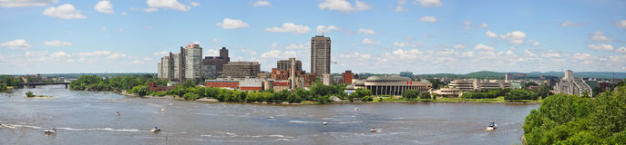 Gatineau Skyline panorama. From Major's Hill Park Ottawa, Quebec, Canada Royalty Free Stock Photos