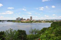 Gatineau Skyline, Quebec, Canada Royalty Free Stock Images