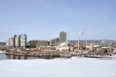 Gatineau skyline, Quebec, Canada stock images