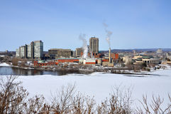 Gatineau skyline, Quebec, Canada Royalty Free Stock Photos