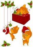 Gatinhos 2 da coleção do Natal Imagem de Stock