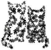 Gatinhos florais ilustração stock