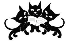 Gatinhos pretos pequenos ilustração do vetor