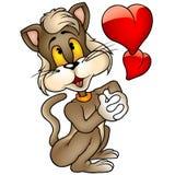 Gatito amoroso de Brown ilustración del vector