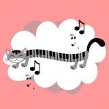Gatito de la música Fotos de archivo libres de regalías
