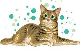 Gatito dulce ilustración del vector