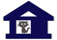Gatito en la casa Imagen de archivo libre de regalías