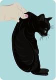 Gatito en una mano Stock de ilustración