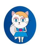 Gatito lindo que lleva a cabo el corazón rojo ilustración del vector