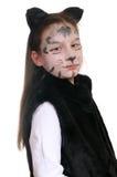 Gatito. Muchacha en un traje del gato Imágenes de archivo libres de regalías