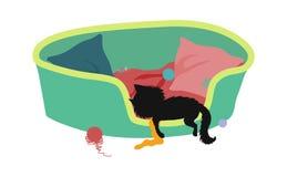 Gatito soñoliento ilustración del vector