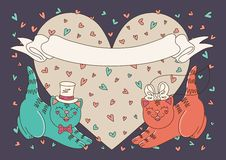 Gatitos felices Imagen de archivo libre de regalías