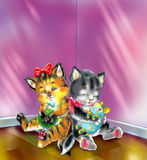 Gatitos soñolientos Fotos de archivo libres de regalías