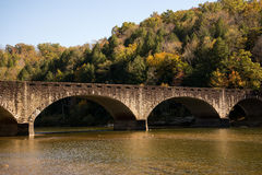 Gatliff Bridge. Spans the Cumberland River upstream of Cumberland Falls Royalty Free Stock Images