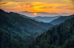 gatlinburg极大的山国家公园发烟性tn 免版税库存照片