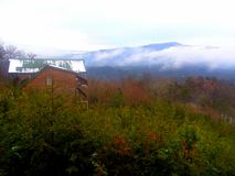 Gatlinburg το Δεκέμβριο μετά από το χιόνι στοκ εικόνες