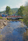 在小皮容河的桥梁在Gatlinburg, 库存照片