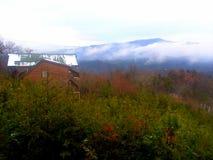 Gatlinburg em dezembro após a neve imagens de stock