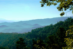Gatlinburg Mountains. With trees and forests Stock Image